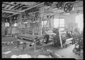 Paterson, New Jersey - Textiles. Two views of an idle petty shop. Taken in the Barnet Mills. - NARA - 518774.tif