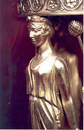 Paul Storr - Detail of a silver-gilt caryatid on a dessert-stand, Paul Storr, London, 1812