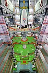Payload Fairing with GSAT-6A is being Integrated.jpg