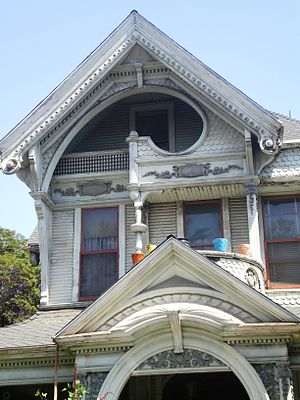 Frederick Mitchell Mooers House - Closeup of top of the house