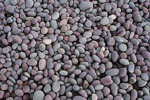 Shingle beach - Pebbles on a shingle beach in Somerset, England