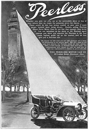 Peerless Motor Company - 1905 Peerless advertisement