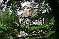 Pejzaż na zamek w Karpnikach z parku, autor W.Baczynska.JPG