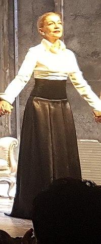 Pemi Zouni as Gertrude in Hamlet, Athens, 2018 n2.jpg