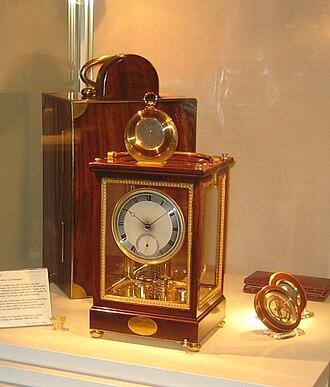 Exposition des produits de l'industrie française - Clock and packet watch by Abraham-Louis Breguet