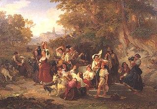 Neapolitan Peasants at a Fountain