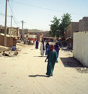 People on a street in Timbuktu