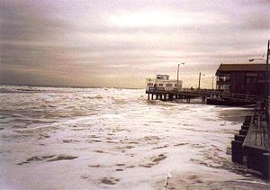 1991 Perfect Storm - Oceanfront flooding in Ocean City, New Jersey