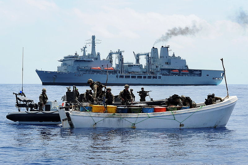 File:Personnel from RFA Fort Victoria Board a Boat Suspected of Use by Pirates Near Somalia MOD 45153434.jpg
