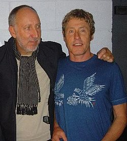 Remaining members Townshend and Daltrey