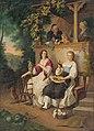 Peter Michal Bohúň - Rodinná idyla (podľa W.Kaulbacha) - O 565 - Slovak National Gallery.jpg
