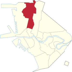 Legislative districts of Manila - Manila's current second district highlighted.