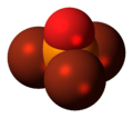 Phosphoryl bromide molecule spacefill.png