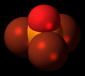 Phosphoryl bromide - Image: Phosphoryl bromide molecule spacefill