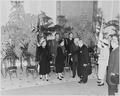 Photograph of President Truman, Mrs. Truman, and Margaret Truman greeting the President of France, Vincent Auriol... - NARA - 200287.tif