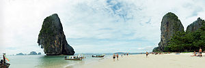 Cutthroat Island - Phra Nang beach was one of the shooting locations