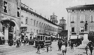 Ferrara - Downtown Ferrara around 1900
