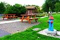 Picnic Tables & Drinking Fountain in Dayville, Orgon Park (37107821964).jpg