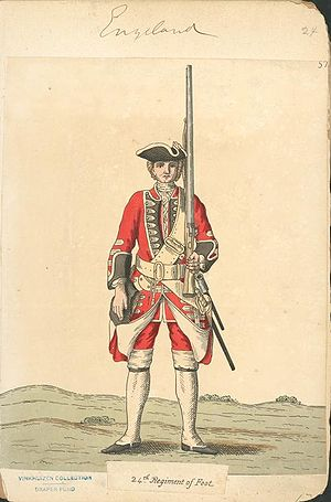 South Wales Borderers - Soldier of 24th Regiment of Foot, 1742