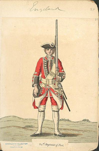 File:Piechur brytyjski z 1742 r. 22 regiment piechoty.jpg