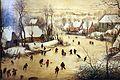 Pieter bruegel il vecchio, paesaggio invernale con trappola per uccelli, 1565, 02.JPG