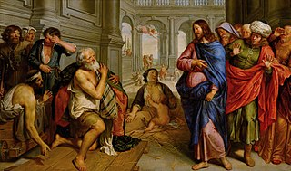 Christ healing the lame at the pool of Bethesda