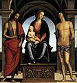 Pietro Perugino - The Madonna between St John the Baptist and St Sebastian - WGA17289.jpg