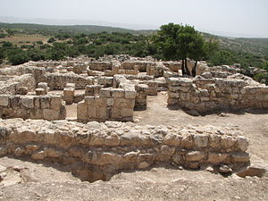 Bar Kokhba revolt - Remains of Hurvat Itri, destroyed during the Bar Kokhba revolt