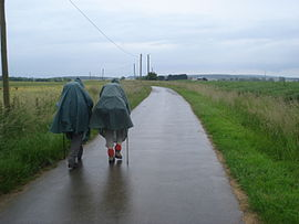 Pilgrims on the Way of St.James near Saint-Martin-des-Champs.JPG
