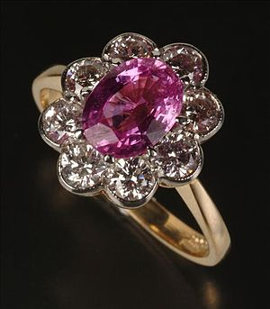 Pink - Image: Pink sapphire ring