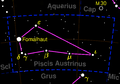 Piscis Austrinus constellation map negative.png