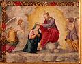 Pittore tosco-emiliano, misteri del rosario, 1550-1600 circa 16 incoronazione.JPG