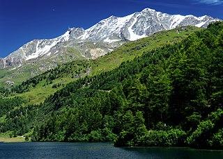 Mountain in the Bernina Range in Switzerland