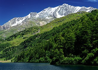 Piz Corvatsch - Image: Piz Corvatsch from Lake Sils