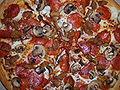 Pizza Hut pepperoni, sausage, mushroom pizza.JPG