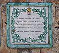 Placa amb poema de Vicent Andrés Estellés a l'ermita de sant Joan, Dénia.JPG