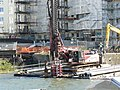 Placing support piles in harbour floor. - geograph.org.uk - 1018782.jpg