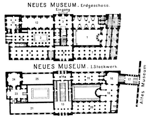 Plano general del Neues Museum.