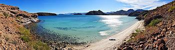 Playa Santispac - Bah%C3%ADa Concepci%C3%B3n - 180 pano
