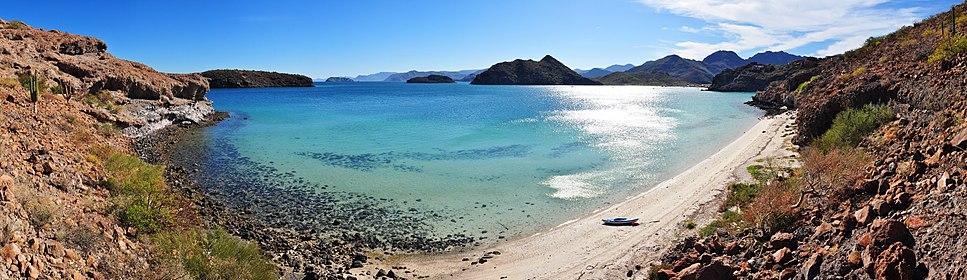 Playa Santispac - Bahía Concepción - 180 pano
