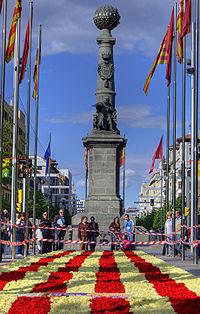 Plaza de Aragón en Zaragoza el día de San Jorge.jpg