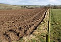 Ploughed field and fence, Trewarlett - geograph.org.uk - 1732110.jpg
