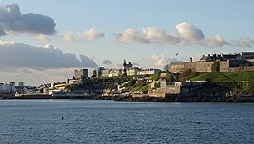 Plymouth Hoe viewed from Mount Batten