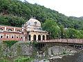 Podul de fier forjat si Baile Imperiale Austriece - Baile Herculane.JPG