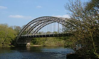 Wylam - Points Bridge as seen from the south bank of the River Tyne