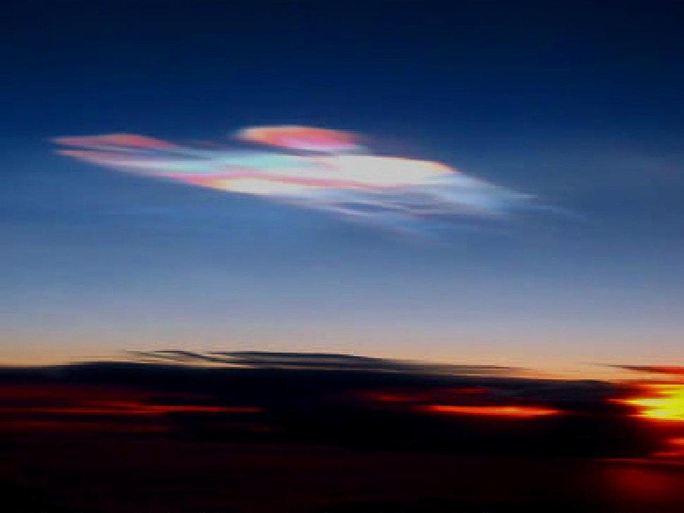 Polar stratospheric cloud type 2