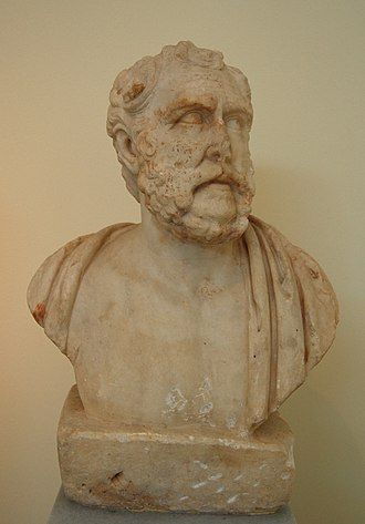 Polemon of Laodicea - Bust of Polemon, Pentelic marble, found in the Temple of Olympian Zeus (Athens)