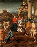 Polidoro Caldara da Caravaggio Adorazione dei pastori Messina Museo Regionale