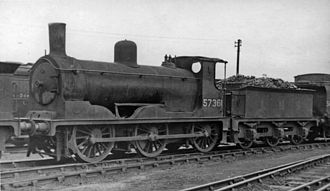 Caledonian Railway 294 and 711 Classes - 294 class No. 57361 at Polmadie Depot 15 August 1948