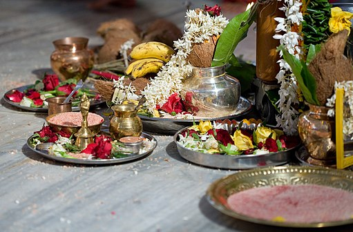 Pooja materials for Hindu rituals